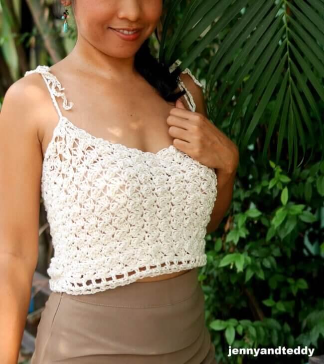 Jasmine rice crop top free crochet patten