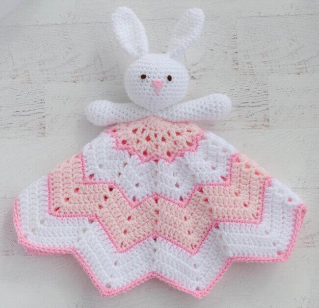 Crochet Lovey Blanket ~ A Bunny To Love