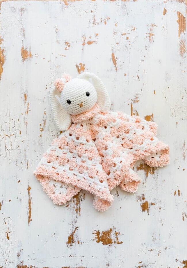 Snuggly Crochet Bunny Baby Lovey