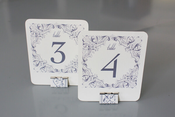 DIY Table Numbers + Holders
