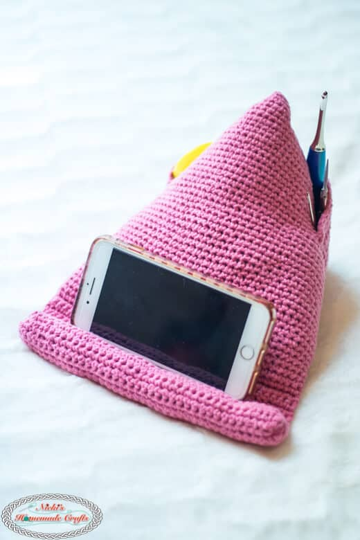 How To Crochet An Easy Phone Stand Wedge