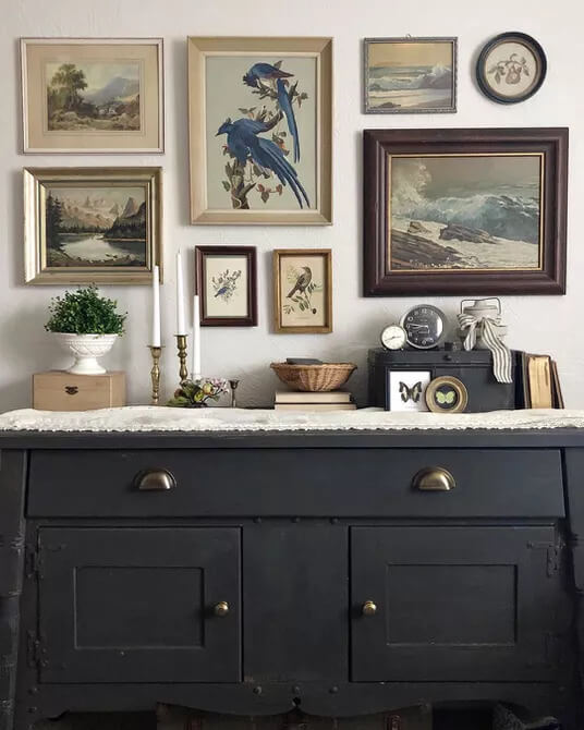 An Antique Gallery Wall