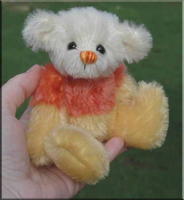 """CANDY CORN – A Sweet Little 6"""" Bear"""