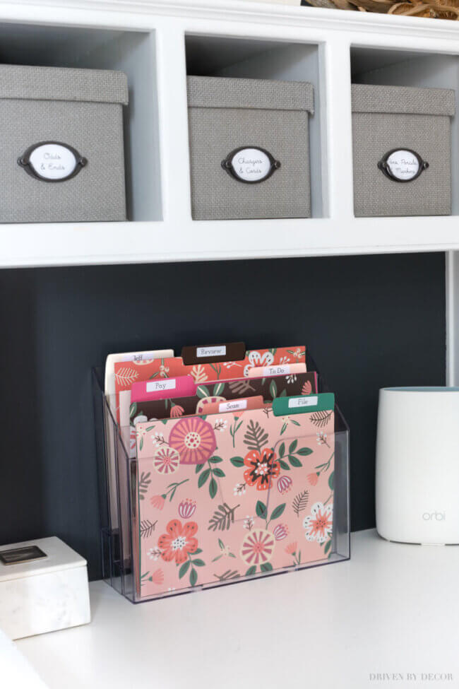 Create A Simple Home Mail Organizer Center