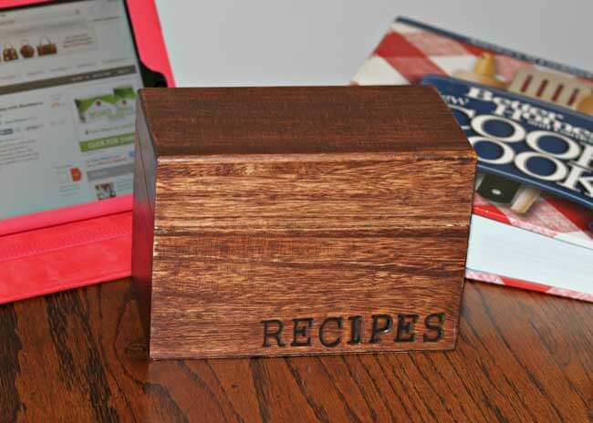 Custom Recipe Box using Wood Branding Letters