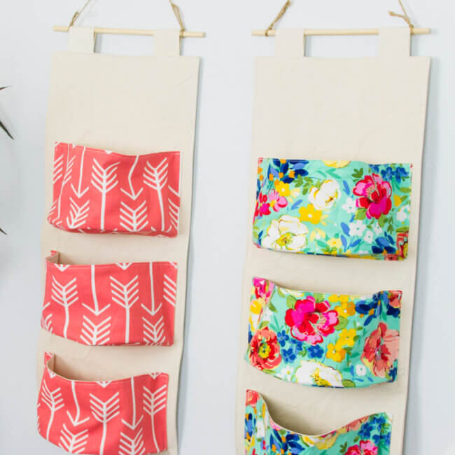 DIY Hanging Organizer - Free Sewing Pattern