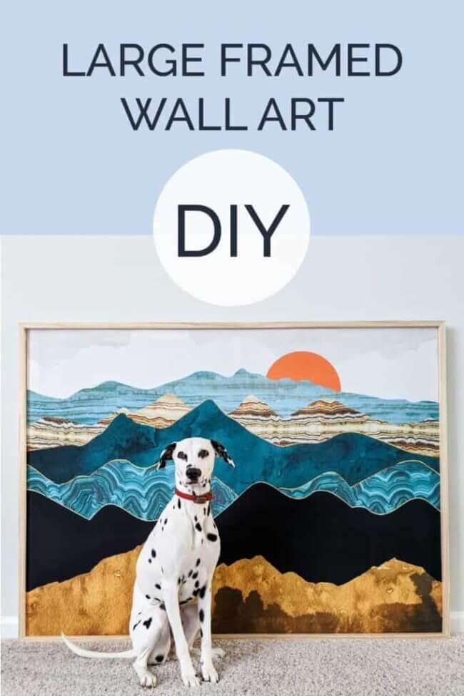 DIY Large Wall Art with Wood Frame
