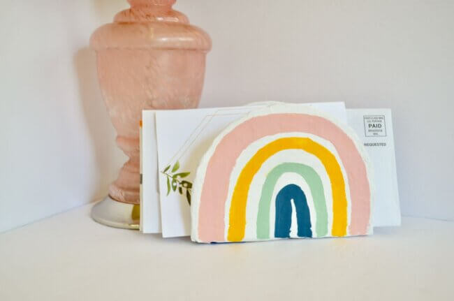 DIY Rainbow Letter Holder