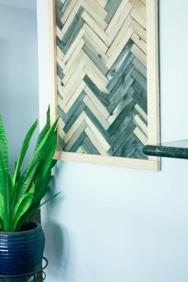DIY Wall Art – Cheap And Easy Wall Art Using Wood Shims