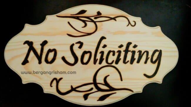 DIY Woodburned Sign