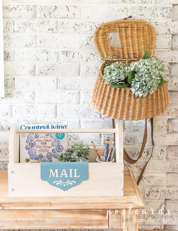 DIY Wooden Tool Box Mail Organizer