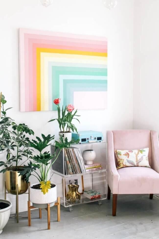 Diy Color Block Rainbow Wall Art