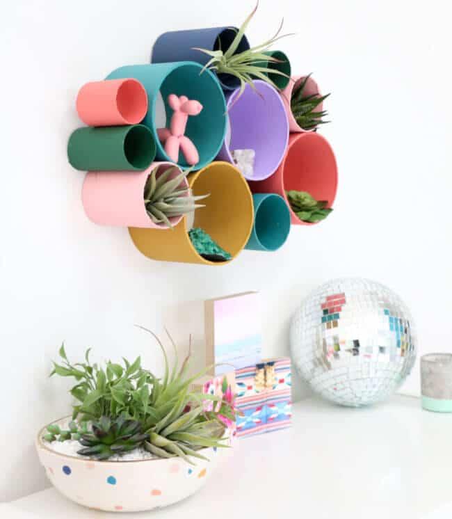 Diy Recycled Cardboard Tube Wall Organizer