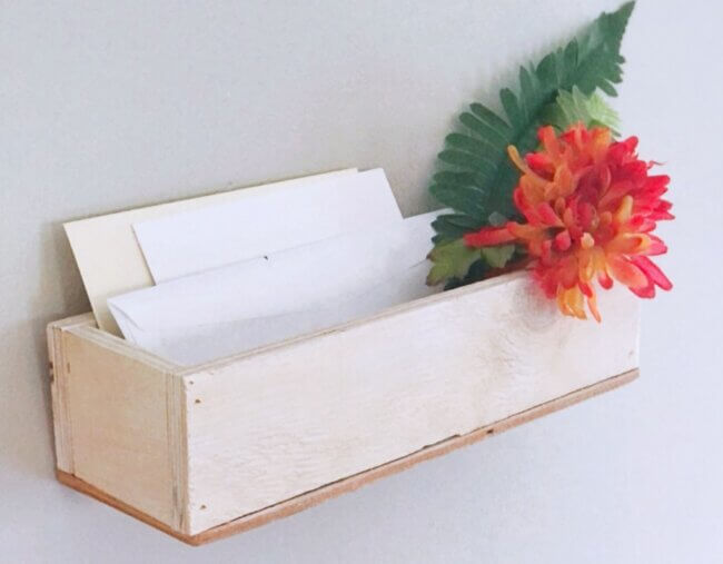 Diy: Simple Rustic Mail Organizer