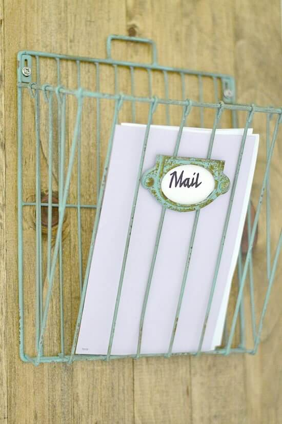 Diy Wall Mail Organizer