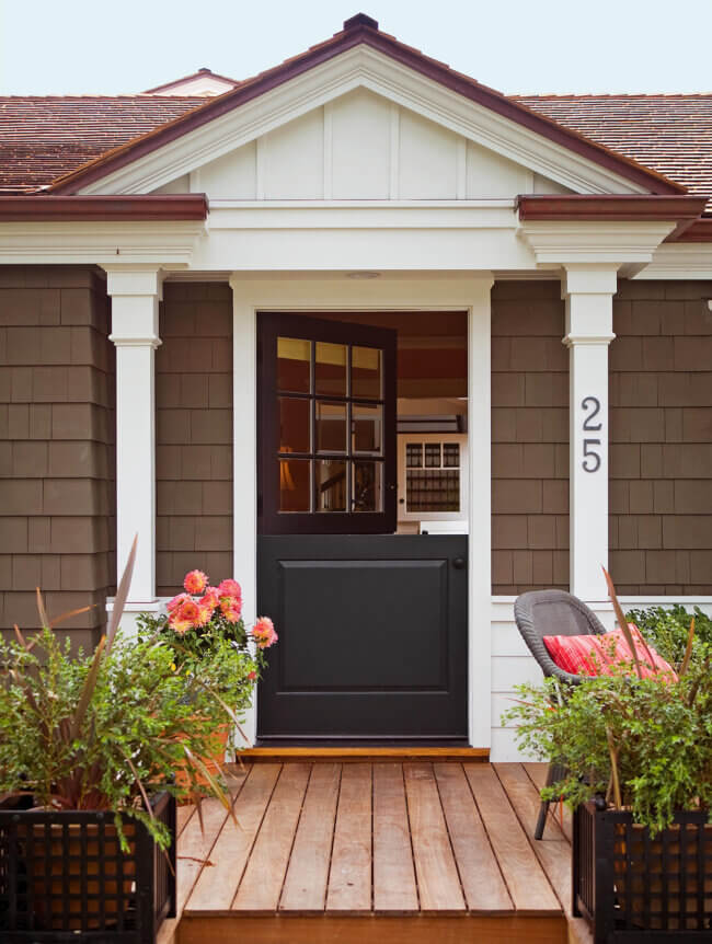 Cozy Black Dutch Front Door