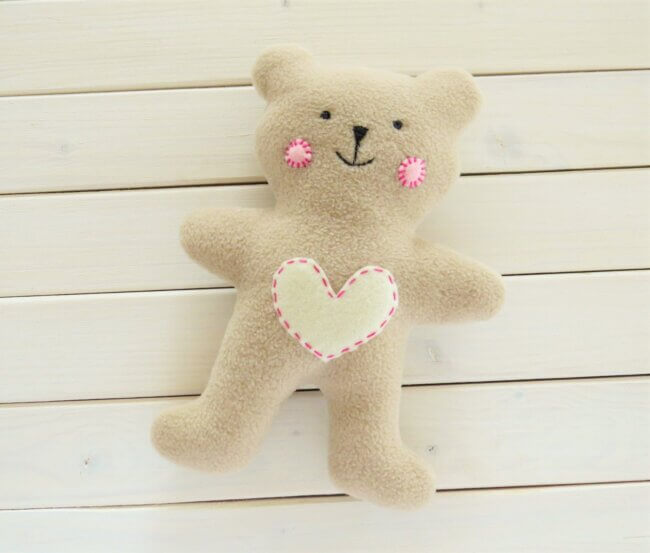 How To Sew Quickly A Cute Little Soft Baby Teddy Bear