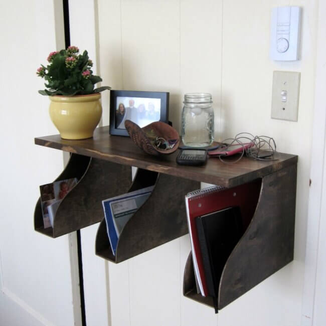IKEA Hack Mail Rack