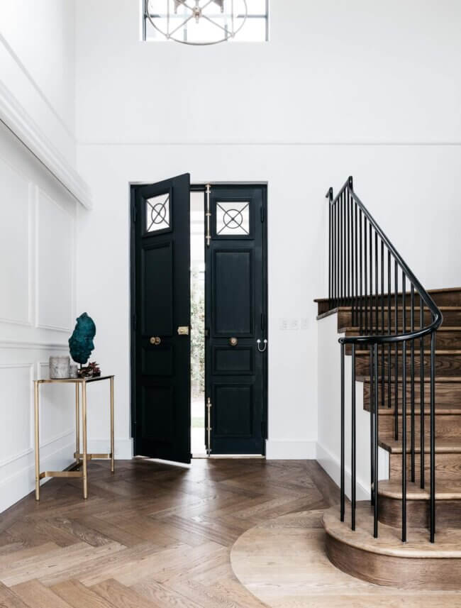 Fabulous and Tall Black Entry Door