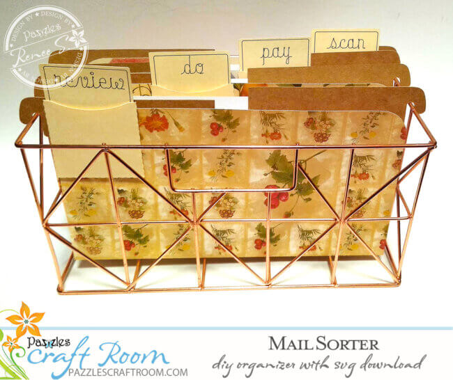 DIY Mail Sorter or Recipe Card Holder