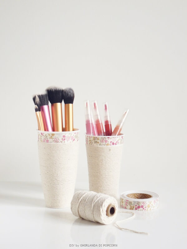 Makeup storage from a Coffee Cup