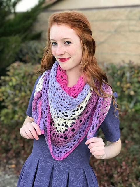 The Amore Shawl Free Crochet Pattern