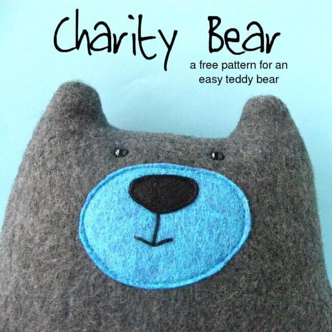 Warren the Charity Bear – a free teddy bear pattern