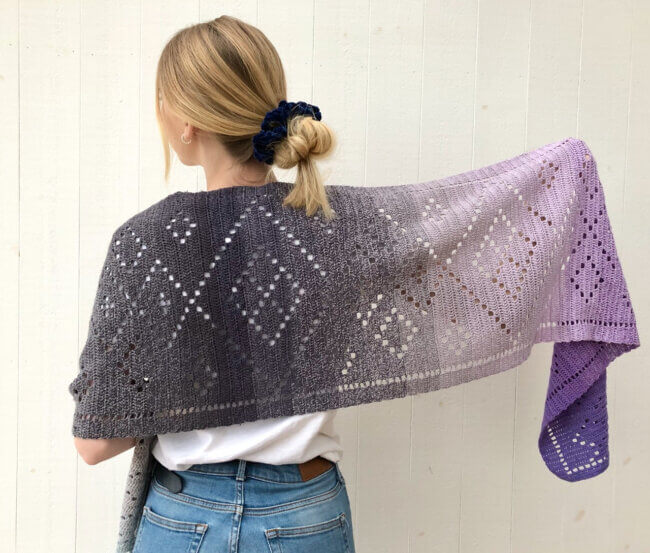 Wrapped in Diamonds Shawl
