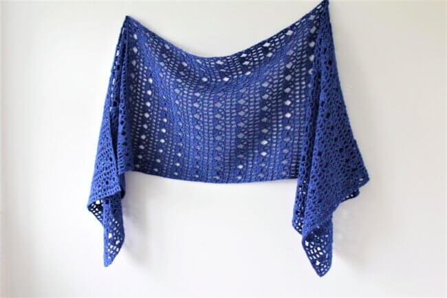 Wren Sideways Shawl – Free Crochet Pattern