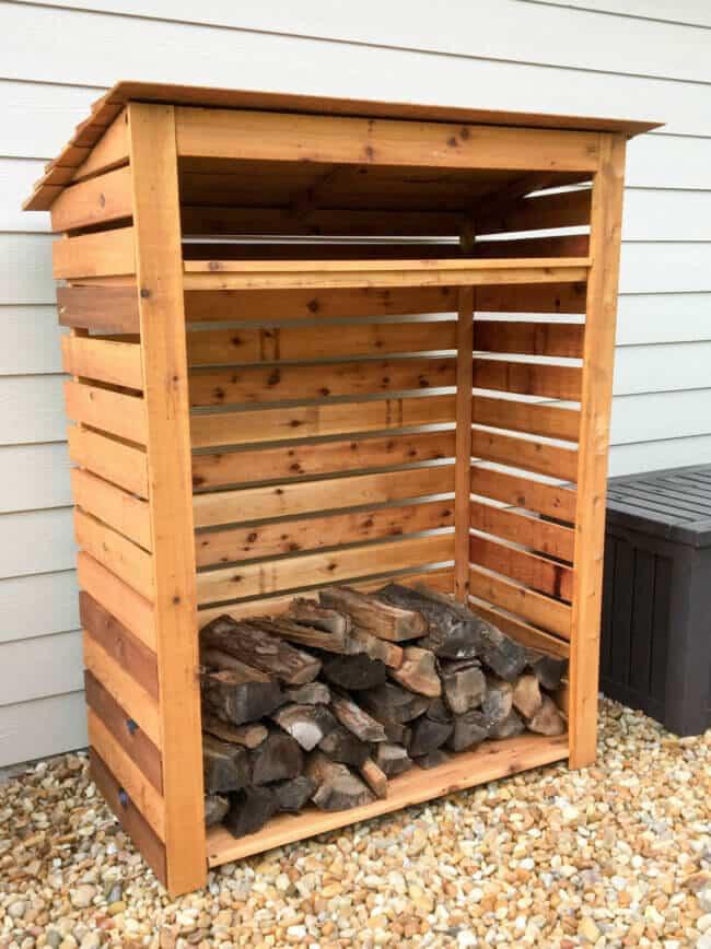 Cedar Firewood Rack Plans