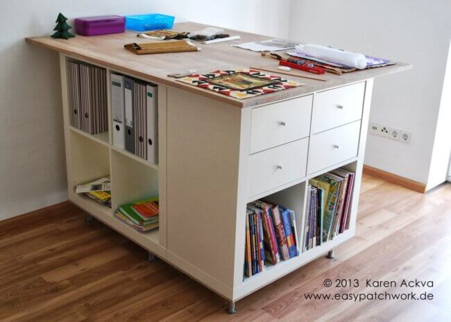 Cutting table (extra large) with lots of practical storage
