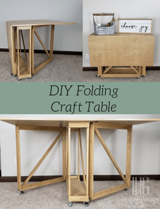 DIY Folding Craft and Sewing Table