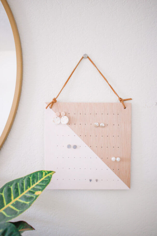 DIY Modern Earring Holder