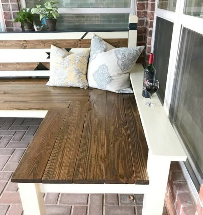 DIY Outdoor Corner Bench Build, just $130