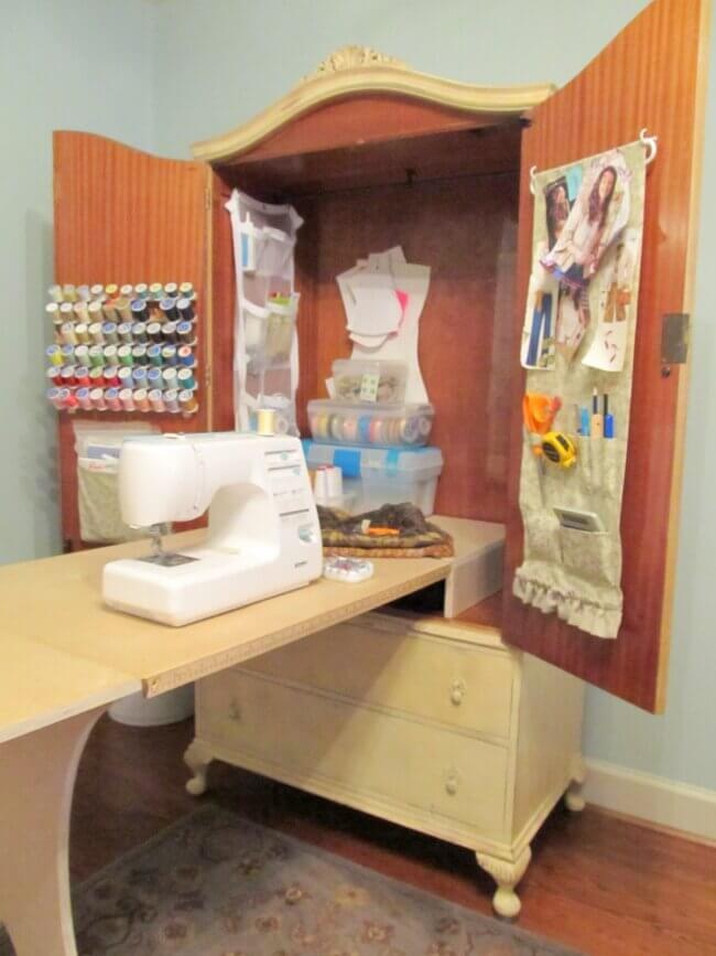 DIY Sewing Cabinet