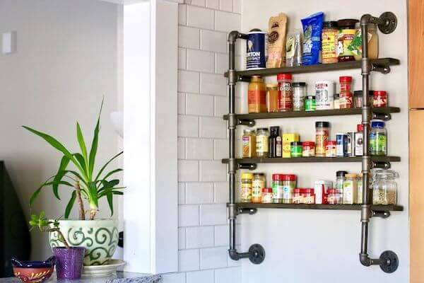 Diy An Industrial-charming Spice Rack