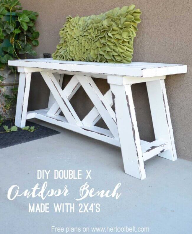 Double X Bench Plans