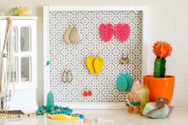 Easy DIY Earring Holder