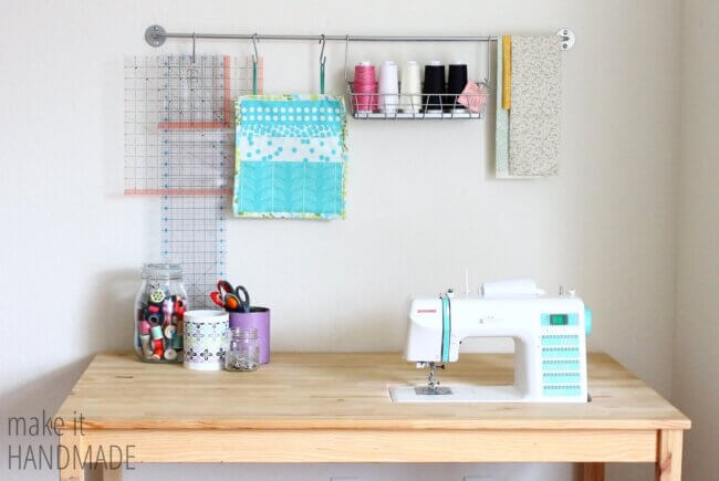 Easy DIY IKEA Sewing Table Hack