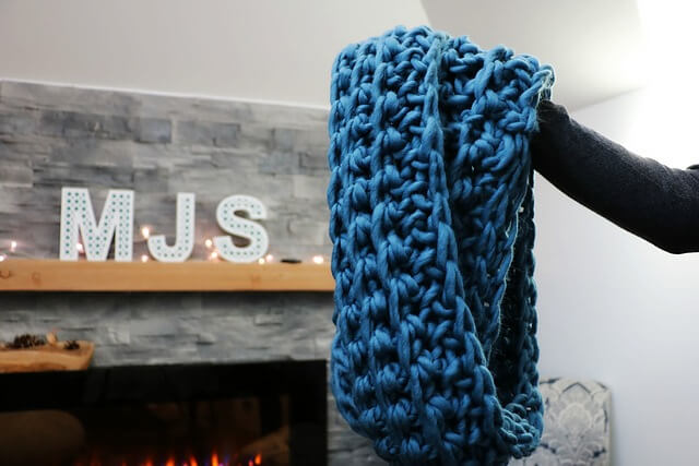 FREE Super Bulky Ribbed Infinity Scarf