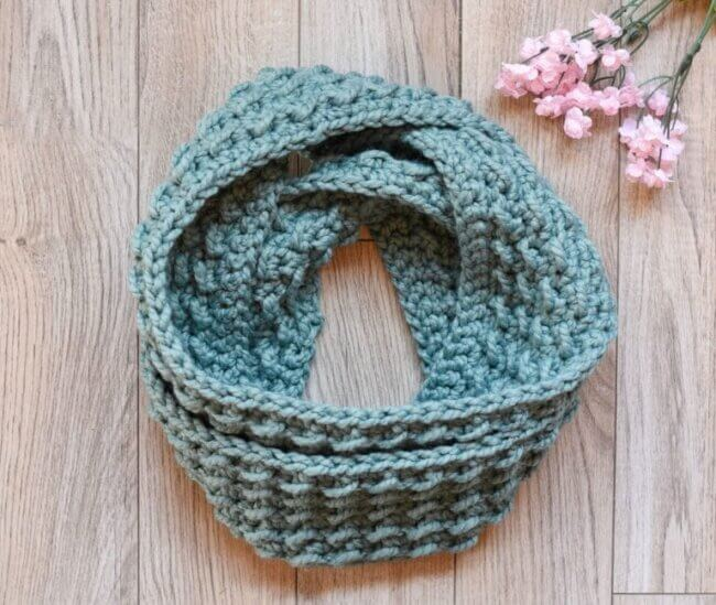 Fluffy Clouds Infinity Scarf