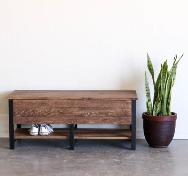 How To Build A Storage Bench For Under $100