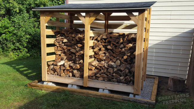 How to Build a Firewood Shed for 3-4 Face Cords