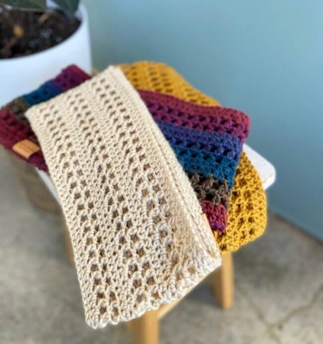LB Crochet Infinity Scarf