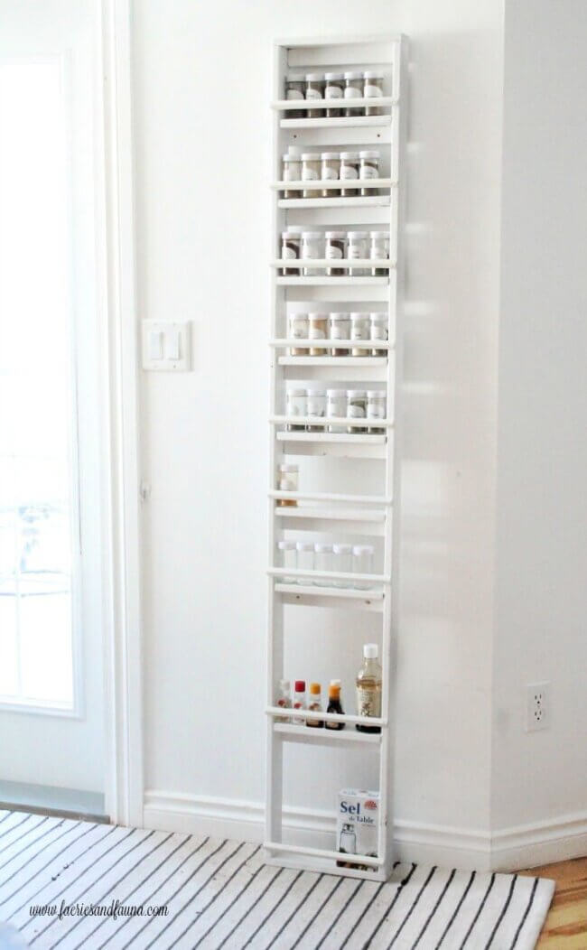 Large Custom DIY Spice Rack for the Pantry