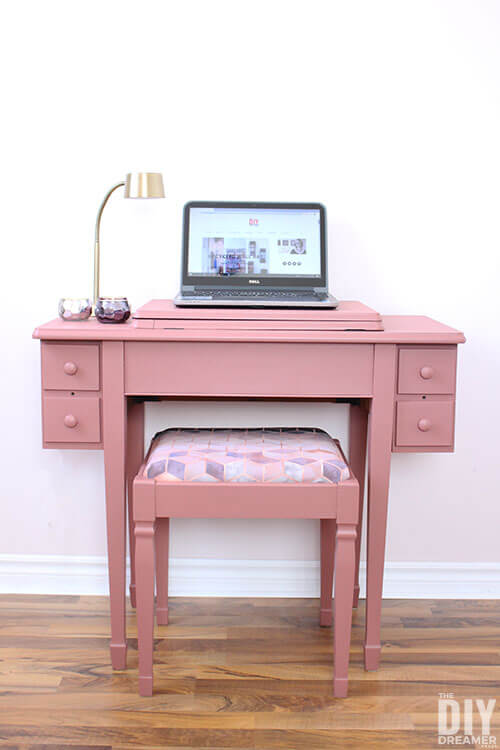 Repurposed Sewing Table upcycled into a desk