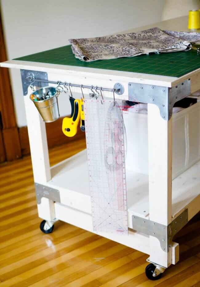 Sewing & Cutting Table Diy For Your Craft Or Sewing Studio