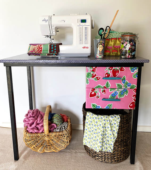 Sewing Table DIY Furniture Upcycle