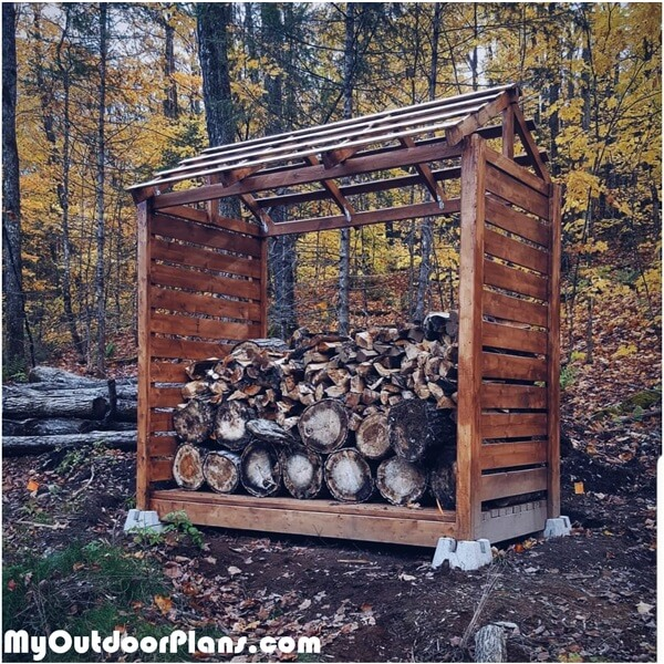 Small Firewood Shelter – DIY Project