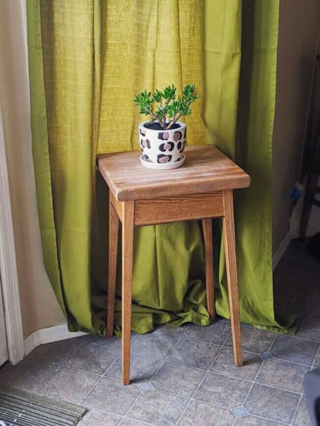 Small Kitchen Hack: Repurposed Butcher Block Diy Plant Stand